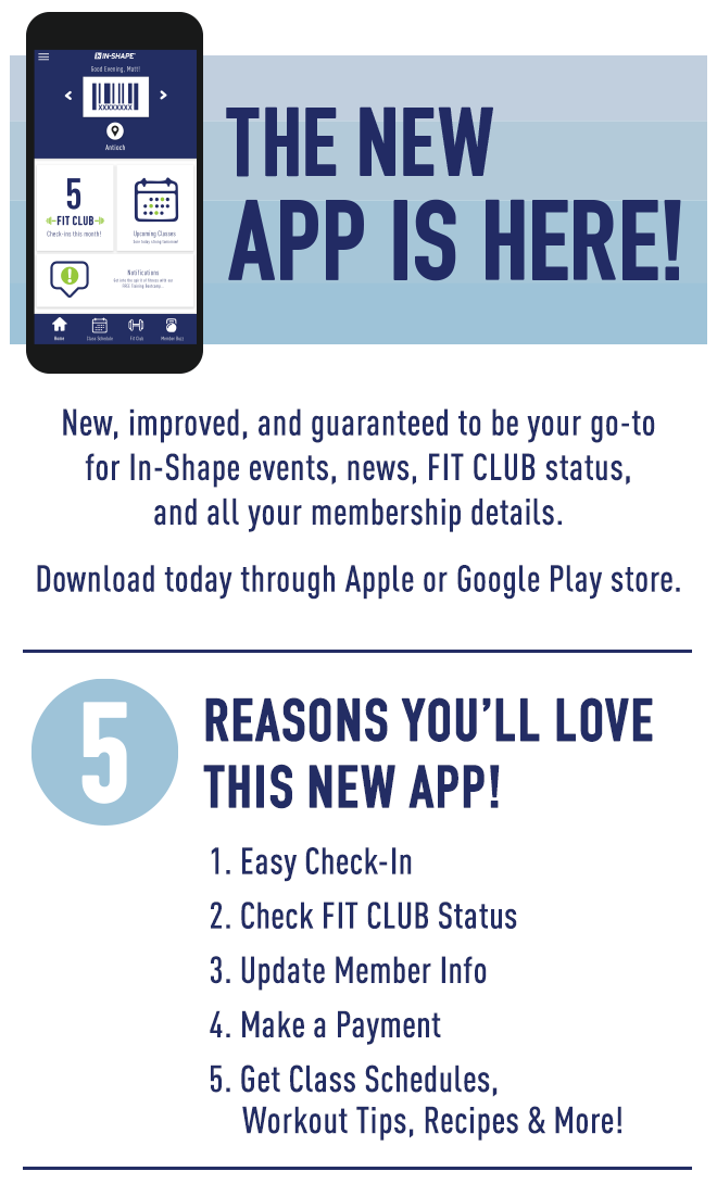 New In-Shape Mobile App
